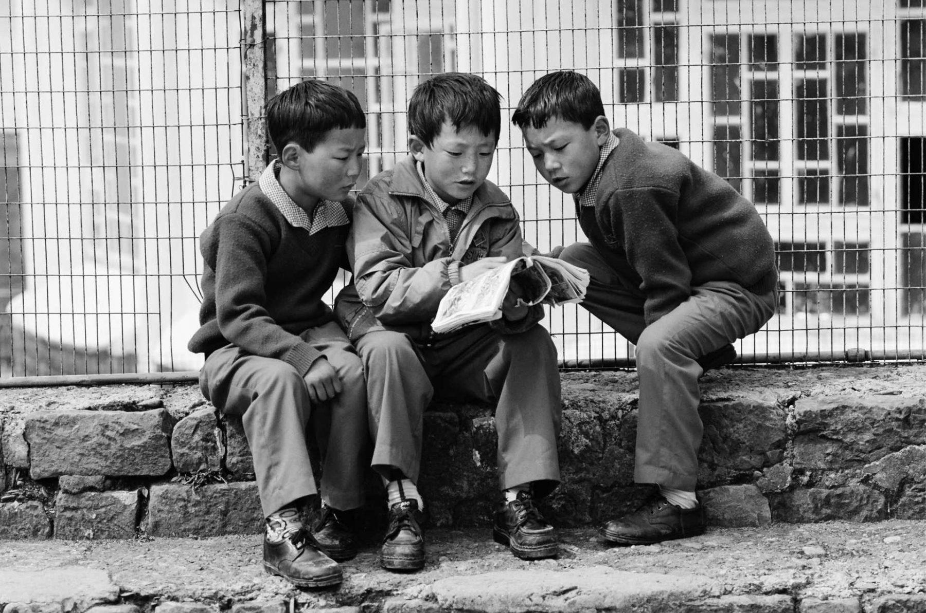 Orphans at the Tibetan Children's Village. India.