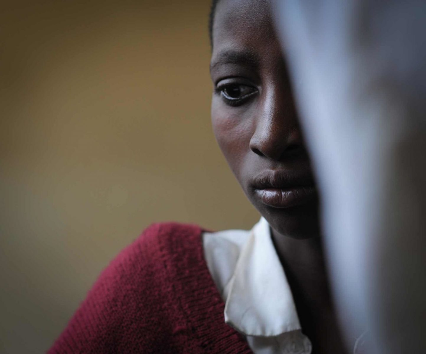 A young woman at the school medical clinic. Tanzania. JMcArthur / Mary Tidlund Foundation