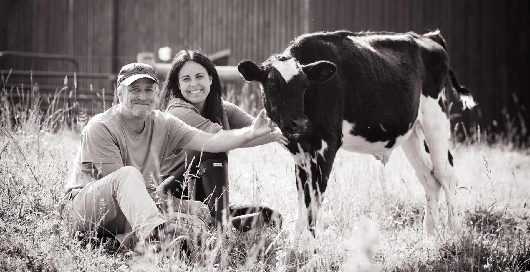 Jon and Tracey Stewart at Farm Sanctuary. USA