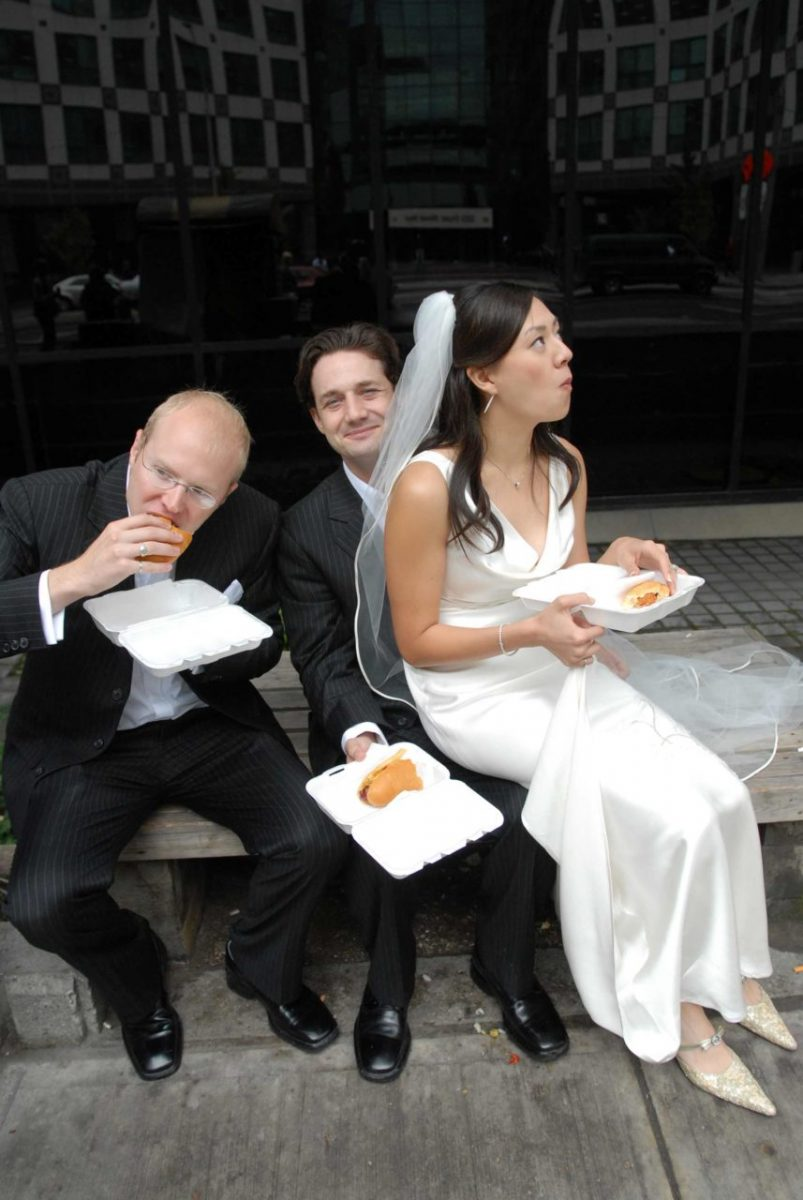 Mid-wedding day pit stop. Canada