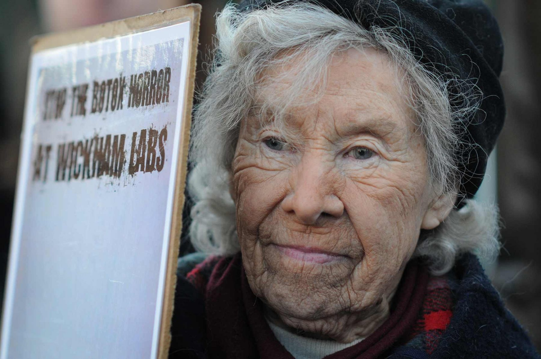 Animal advocate and protester Helen Nelson. England, 2011