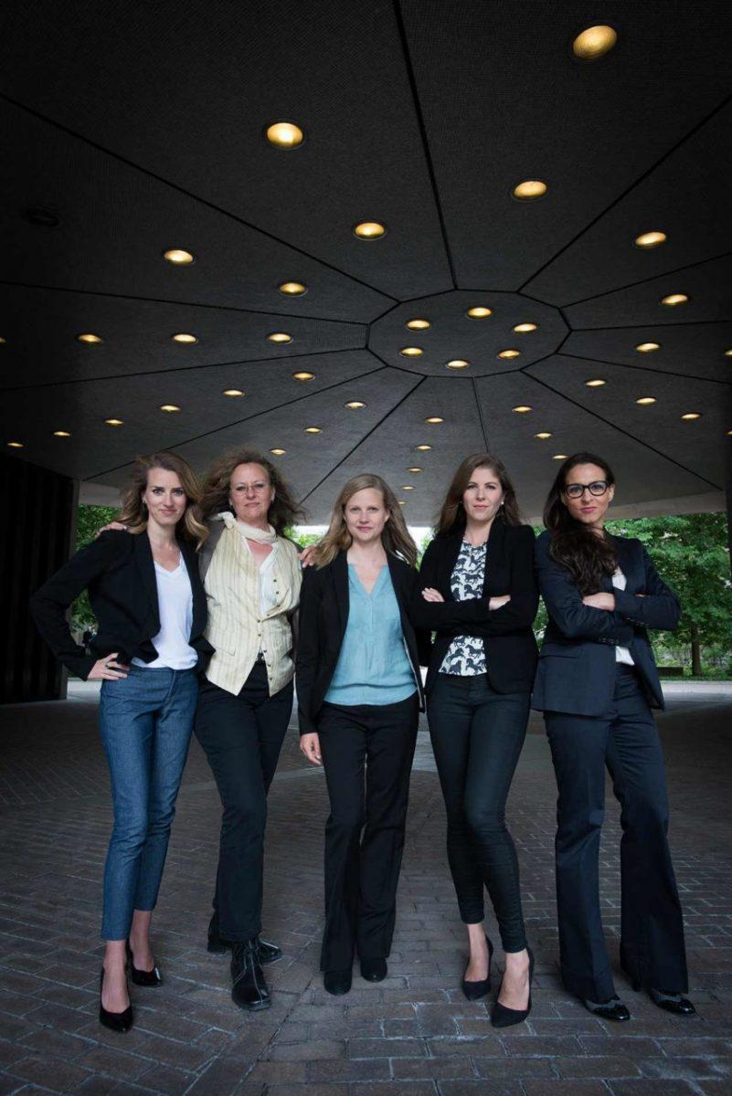 Animal rights lawyers (L-R) Camille Labchuk, Lesli Bisgould, Anna Pippus, Sophie Gaillard and Alanna Devine. Canada, 2016