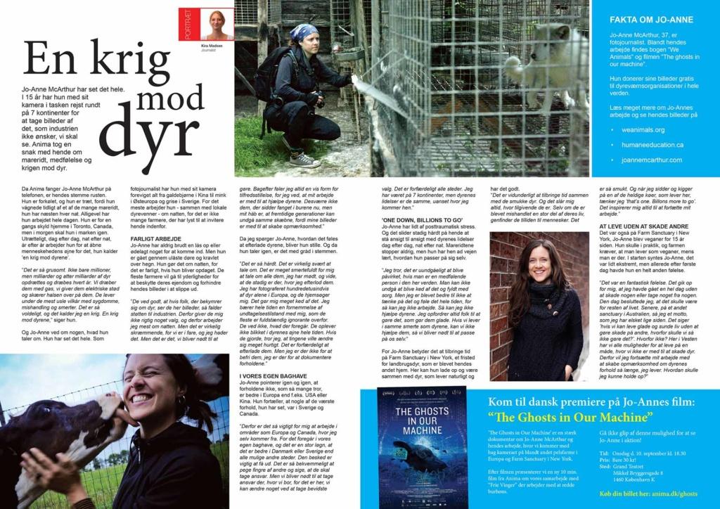 Anima Magazine, Denmark, 2014