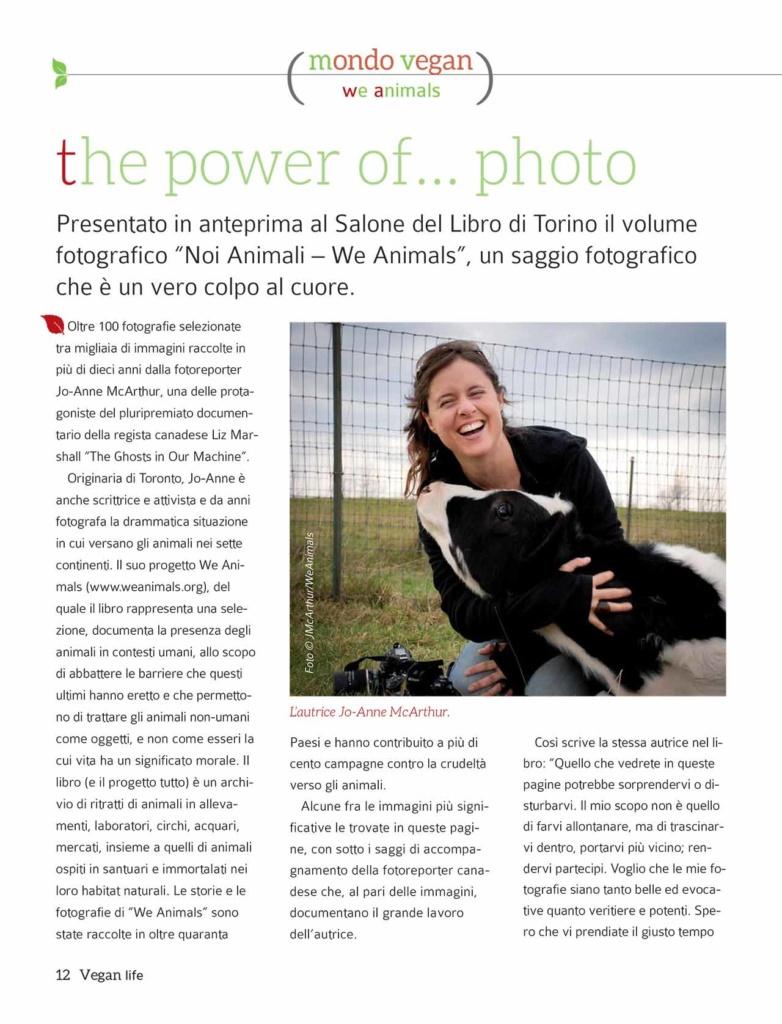 Vegan Life Magazine Feature,  Italy